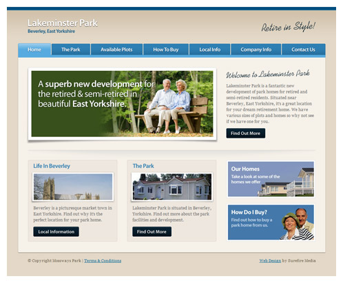 Knutsford Web Design - Lakeminster Park